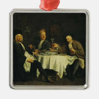 The Poet Alexis Piron  at the Table Silver-Colored Square Decoration