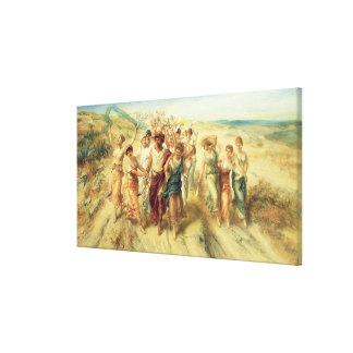 The Poet Anacreon (570-485 BC) with his Muses, 189 Gallery Wrap Canvas