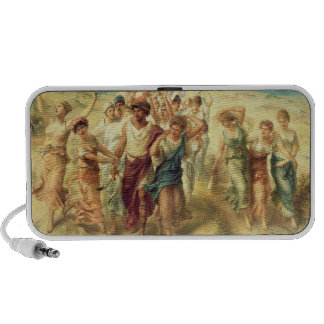 The Poet Anacreon (570-485 BC) with his Muses, 189 Travelling Speaker