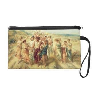 The Poet Anacreon (570-485 BC) with his Muses, 189 Wristlet Clutch
