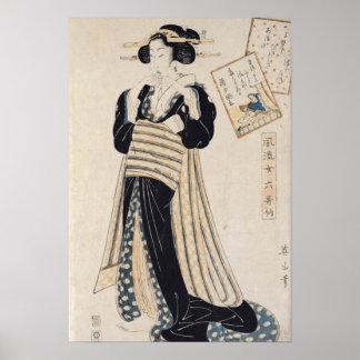 The Poet Sei Shonagon as a Courtesan Poster