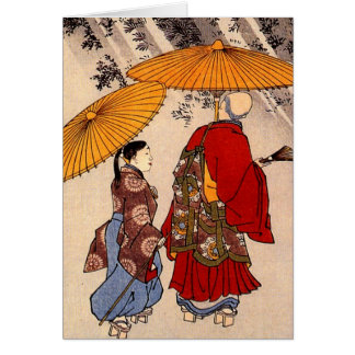 The poet Yacuren and a companion strolling Greeting Card
