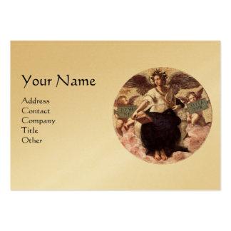 THE POETRY Monogram, Gold Metallic, Black Business Card