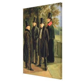 The Poets Aleksandr Pushkin Canvas Print
