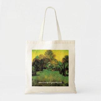 The Poet's Garden by Vincent van Gogh. Tote Bag