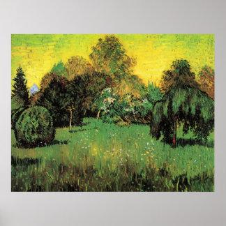 The Poet's Garden by Vincent van Gogh Poster