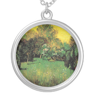 The Poet's Garden by Vincent van Gogh. Silver Plated Necklace