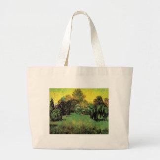 The Poet's Garden by Vincent van Gogh. Jumbo Tote Bag