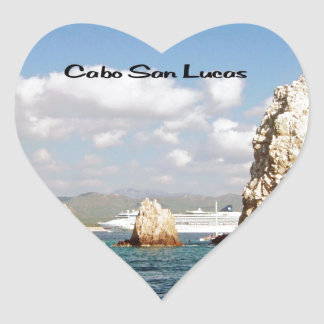 The point at Cabo San Lucas Heart Stickers