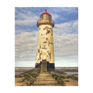 The Point of Ayr Lighthouse Canvas Canvas Print