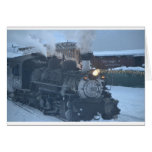 The Polar Express Engine Greeting Card