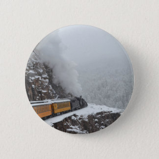 The Polar Express Rounds the Bend 6 Cm Round Badge