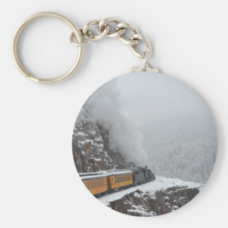 The Polar Express Rounds the Bend Key Ring