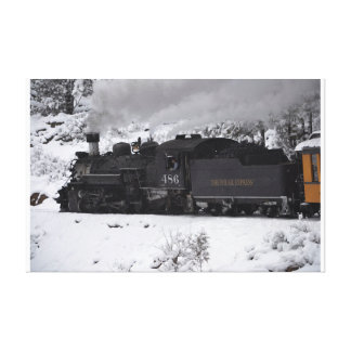 The Polar Express Steam Engine Stretched Canvas Prints
