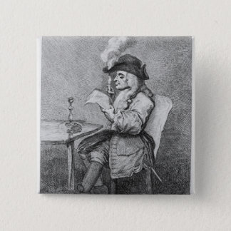 The Politician, etched by John Keyse Sherwin 15 Cm Square Badge