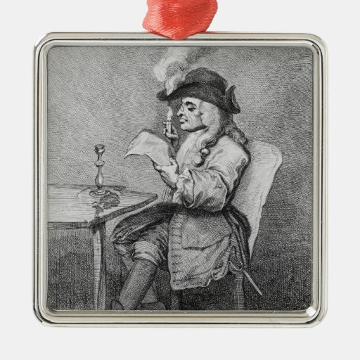 The Politician, etched by John Keyse Sherwin Christmas Tree Ornaments