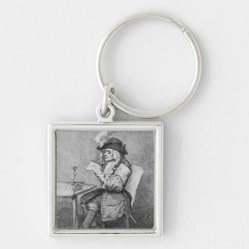 The Politician, etched by John Keyse Sherwin Key Chain