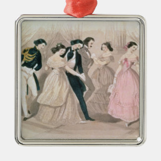 The Polka Fashions, from Godey's Lady's Book Christmas Ornament