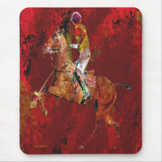 The Polo Player Mouse Pad