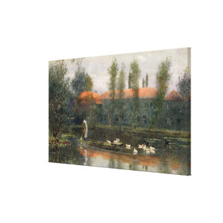 The Pond of William Morris Works at Merton Abbey ( Canvas Print