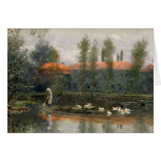 The Pond of William Morris Works at Merton Abbey ( Card