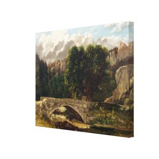 The Pont de Fleurie, Switzerland, 1873 Canvas Print