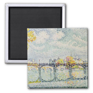 The Pont des Arts, 1928 Square Magnet