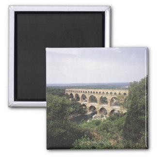 The Pont du Gard Square Magnet