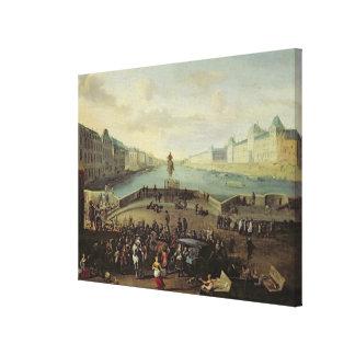 The Pont Neuf, Paris, 1665-69 Canvas Prints