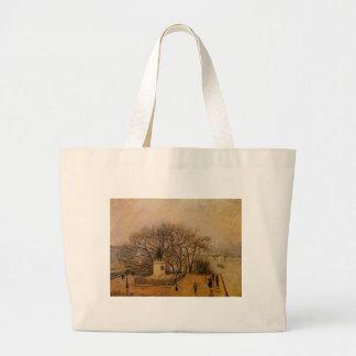 The Pont Neuf, Statue of Henri IV, Mist by Camille Jumbo Tote Bag