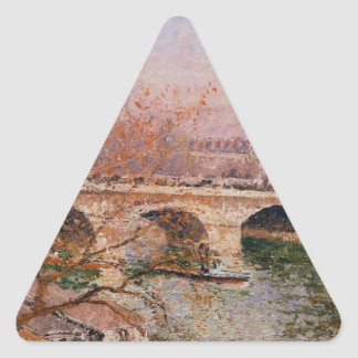 The Pont Royal and the Pavillion de Flore Camille Triangle Sticker