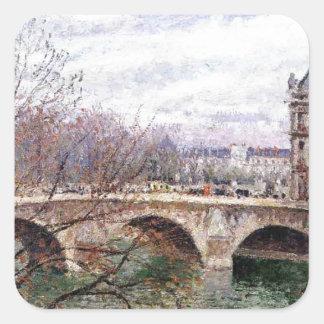 The Pont Royal and the Pavillion de Flore Square Sticker