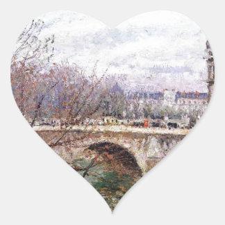 The Pont Royal and the Pavillon de Flore Camille Heart Sticker