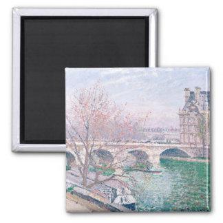The Pont-Royal and the Pavillon de Flore Square Magnet