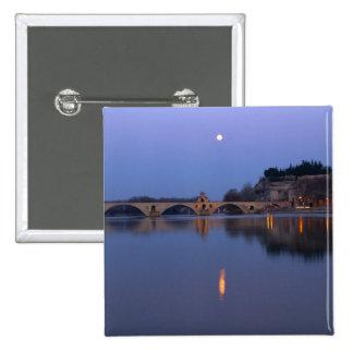 The Pont St. Benezet bridge in Avignon on the 15 Cm Square Badge