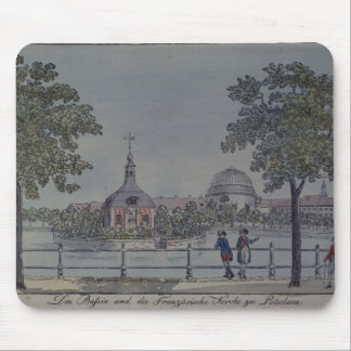 The Pool and French Church in Potsdam, c.1796 Mouse Mat