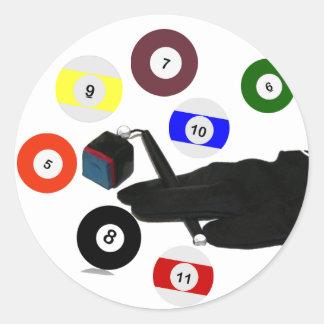The Pool Glove Round Sticker