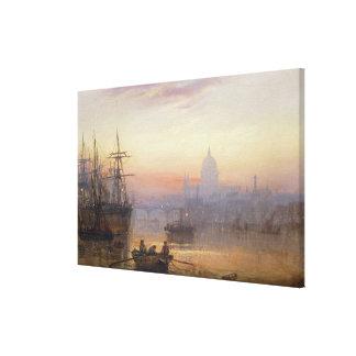The Pool of London at Sundown, 1876 Canvas Print