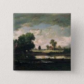 The Pool with a Stormy Sky, c.1865-7 15 Cm Square Badge