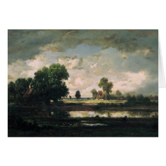 The Pool with a Stormy Sky, c.1865-7 Card