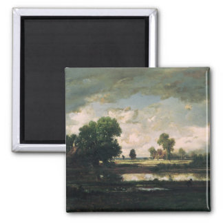 The Pool with a Stormy Sky, c.1865-7 Square Magnet