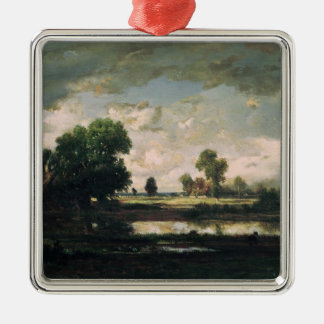 The Pool with a Stormy Sky, c.1865-7 Silver-Colored Square Decoration