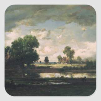 The Pool with a Stormy Sky, c.1865-7 Square Sticker