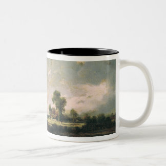 The Pool with a Stormy Sky, c.1865-7 Two-Tone Coffee Mug
