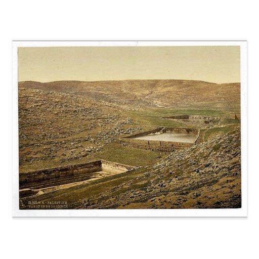 The pools of Solomon, Bethlehem, Holy Land, (i.e.,