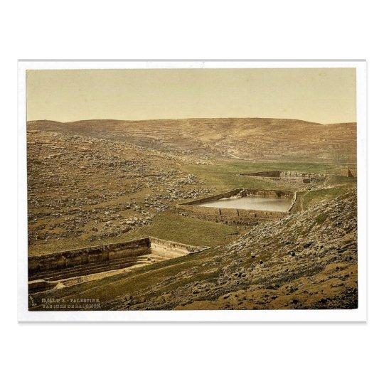 The pools of Solomon, Bethlehem, Holy Land, (i.e., Postcard