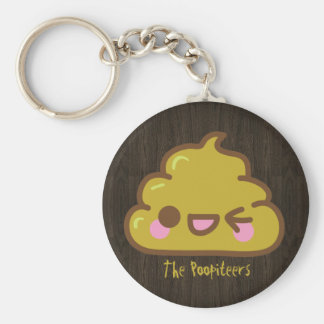 The Poopiteers - Cutey Poo Basic Round Button Key Ring
