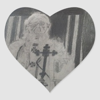 The Pope by Celebrity Ishah Laurah Guillen Wright Heart Sticker