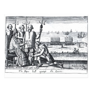 The Pope s Bull against the Queen in 1570 Postcard