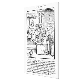 The Pope selling Indulgences Canvas Print